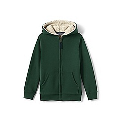 Lands' End - Boys' green sherpa-lined hoodie