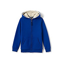 Lands' End - Boys' blue sherpa-lined hoodie