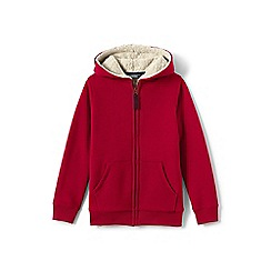Lands' End - Boys' red sherpa-lined hoodie