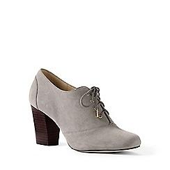 Lands' End - Grey regular block heel oxford shoes