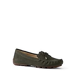Lands' End - Green regular scalloped driving shoes