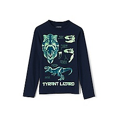 Lands' End - Toddler boys' blue glow-in-the-dark graphic tee