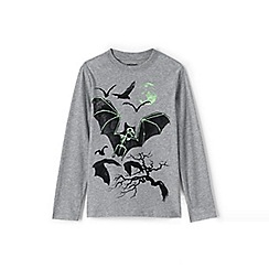 Lands' End - Boys' grey glow-in-the-dark graphic tee
