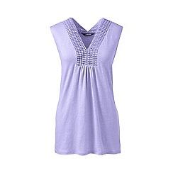 Lands' End - Purple regular linen vest top