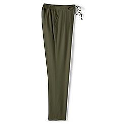 Lands_End_Women - Green regular soft trousers