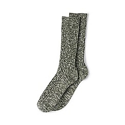 Lands' End - Green chunky boot socks