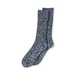 Lands' End - Blue chunky boot socks