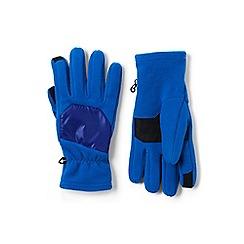 Lands' End - Blue EZ touch thermacheck-200 fleece gloves