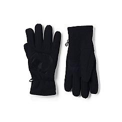 Lands' End - Black EZ touch thermacheck-200 fleece gloves
