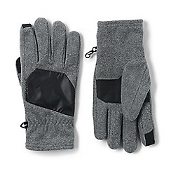 Lands' End - Grey EZ touch thermacheck-200 fleece gloves