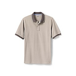 Lands' End - Cream tipped pique polo shirt