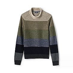 Lands' End - Beige striped fisherman jumper