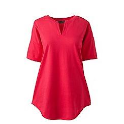 Lands' End - Pink regular short sleeves v-neck tunic