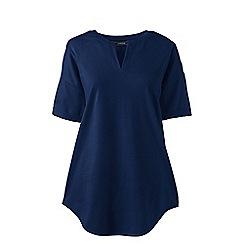 Lands' End - Blue petite short sleeves v-neck tunic