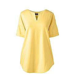 Lands' End - Yellow petite short sleeves v-neck tunic