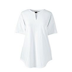 Lands' End - White petite short sleeves v-neck tunic