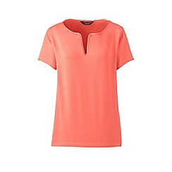Lands' End - Orange notch neck top