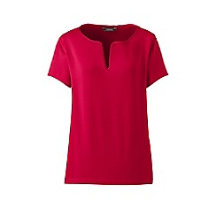 Lands' End - Red notch neck top