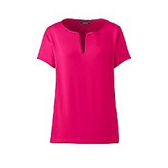Lands' End - Pink notch neck top