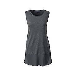 Lands' End - Grey soft leisure sleeveless viscose tunic