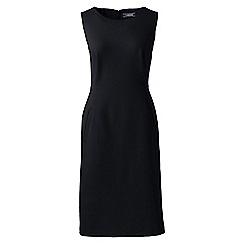 Lands' End - Black sleeveless ponte jersey dress