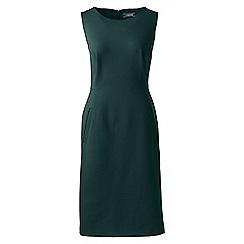 Lands' End - Green sleeveless ponte jersey dress