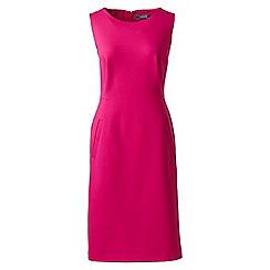 Lands' End - Pink sleeveless ponte jersey dress