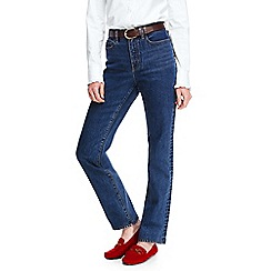Lands' End - Blue high rise indigo straight leg jeans
