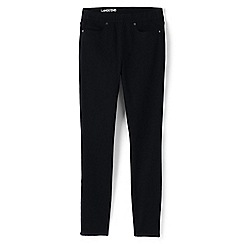 Lands' End - Black pull-on black skinny jeans