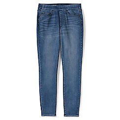 Lands' End - Blue pull-on deepest indigo skinny jeans
