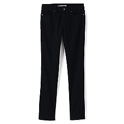 Lands' End - Black true-straight black jeans