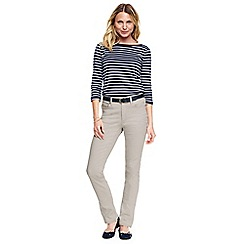 Lands' End - Cream true-straight jeans
