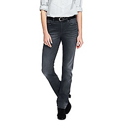 Lands' End - Grey true-straight gunmetal grey jeans