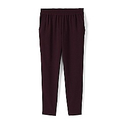 Lands' End - Red crepe easy jogger trousers