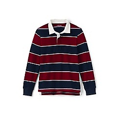 Lands' End - Boys' multicoloured striped rugby shirt