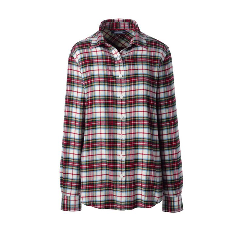 Lands End Multicoloured brushed flannel shirt