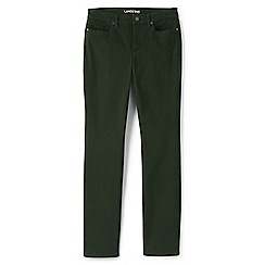 Lands' End - Green straight leg jeans in sueded cotton