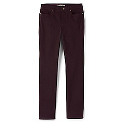 Lands' End - Red straight leg jeans in sueded cotton