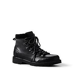 Lands' End - Black leather walking boots