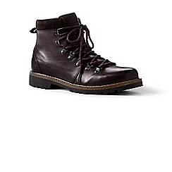 Lands' End - Brown leather walking boots