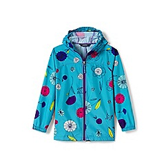 Lands' End - Girls' blue patterned packable navigator jacket
