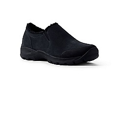 Lands' End - Black sherpa-lined moccasins