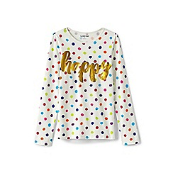 Lands' End - Toddler girls' multicoloured novelty graphic tee