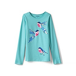 Lands' End - Girls' blue novelty graphic tee