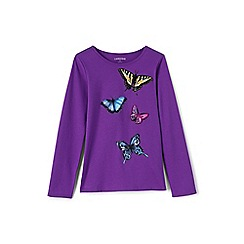Lands' End - Girls' purple novelty graphic tee