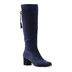 Lands' End - Blue block heel suede boots