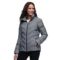 Lands' End - Grey patterned down jacket