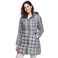 Lands' End - Multi patterned lightweight down long coat