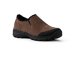Lands' End - Brown wide sherpa-lined moccasins