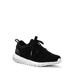 Lands' End - Black lightweight suede trainers